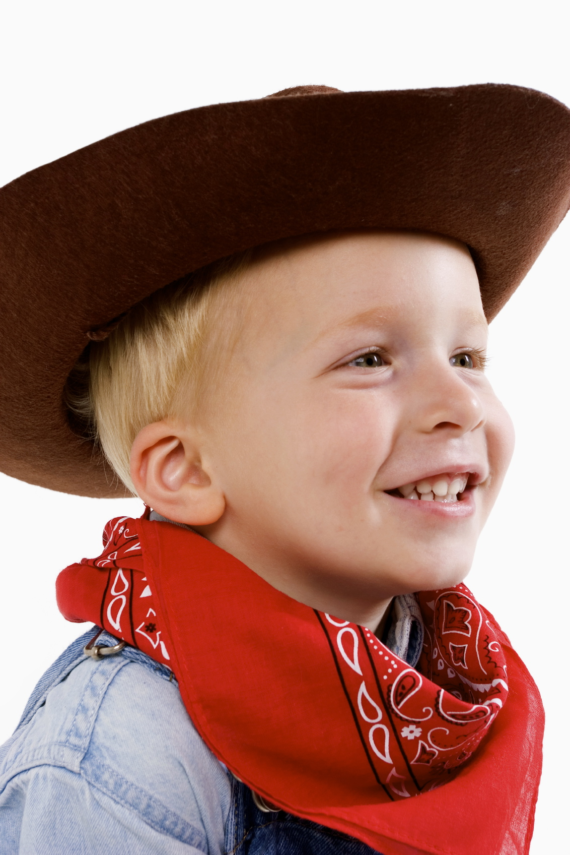Happy young boy with a cowboy hat